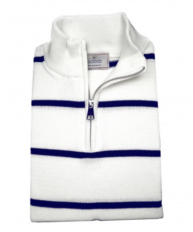 white-navy  jumper Victorio S09