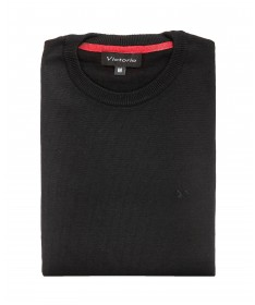 Black crew neck jumper Victorio P04