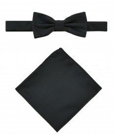 Bow Tie Victorio + pocket square Lux 008