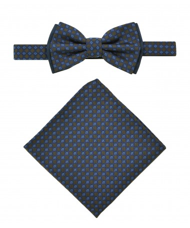 Bow Tie Victorio + pocket square Lux 015