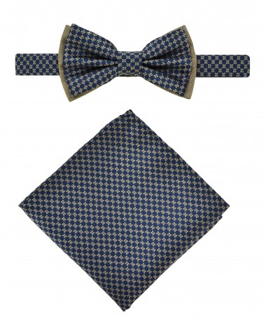 Bow Tie Victorio + pocket square Lux 027