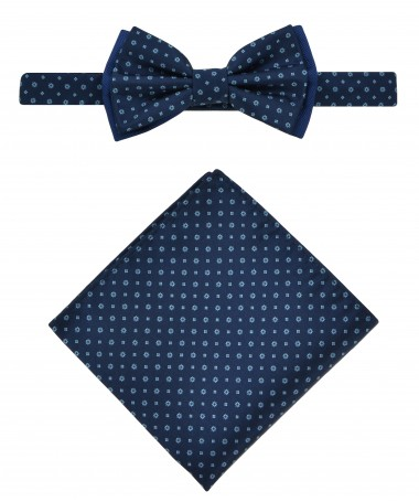 Bow Tie Victorio + pocket square Lux 029