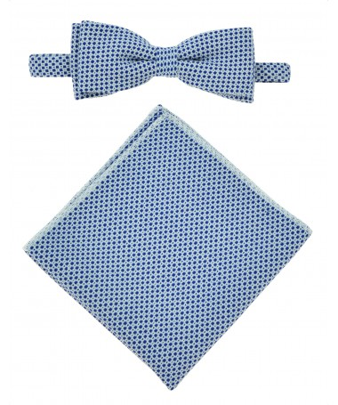 Bow Tie Victorio + pocket square Lux 042