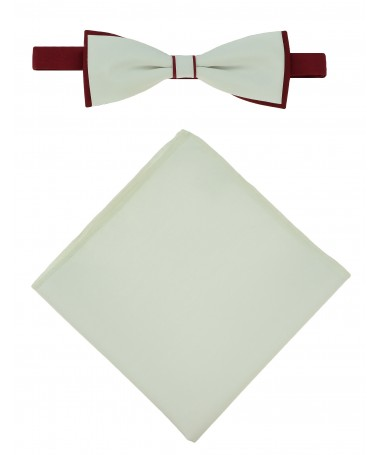 Bow Tie Victorio + pocket square Lux 048