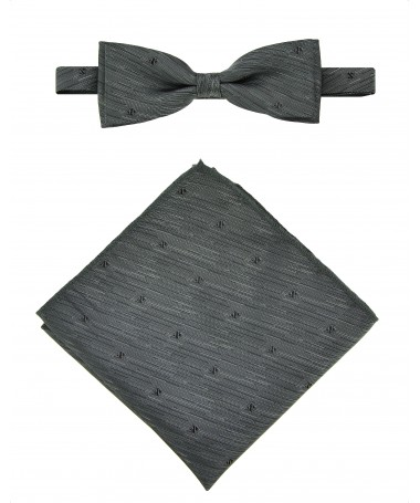 Bow Tie Victorio + pocket square Lux 051