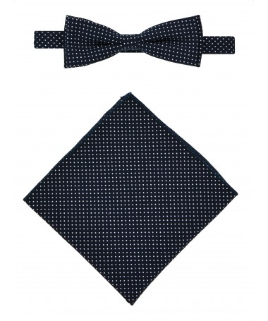 Bow Tie Victorio + pocket square Lux 054