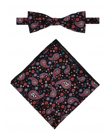 Bow Tie Victorio + pocket square Lux 066