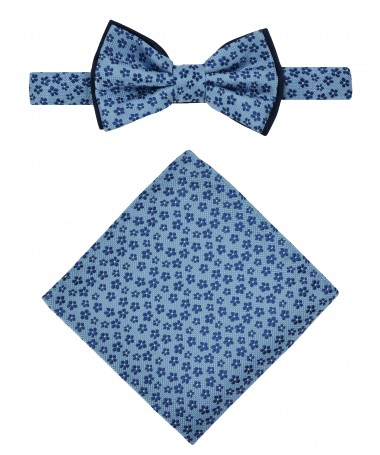 Bow Tie Victorio + pocket square Lux 078