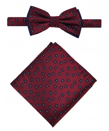 Bow Tie Victorio + pocket square Lux 079