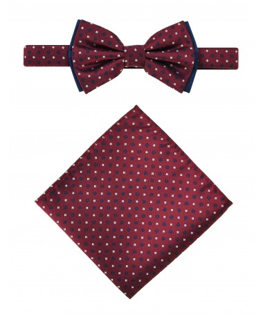 Bow Tie Victorio + pocket square Lux 082