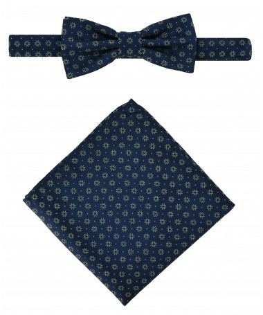 Bow Tie Victorio + pocket square Lux 083