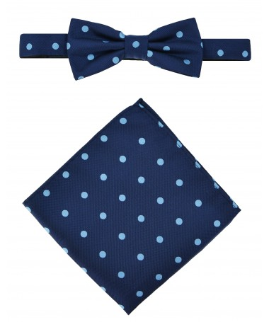 Bow Tie Victorio + pocket square Lux 093