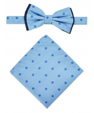 Bow Tie Victorio + pocket square Lux 095