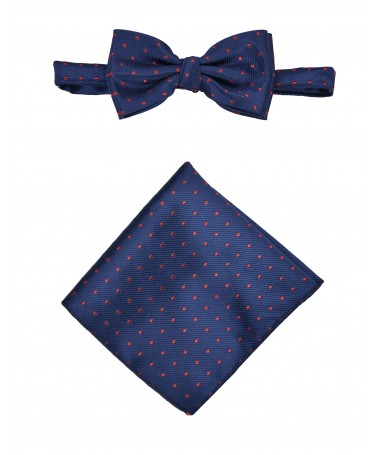 Bow Tie Victorio + pocket square Lux 122