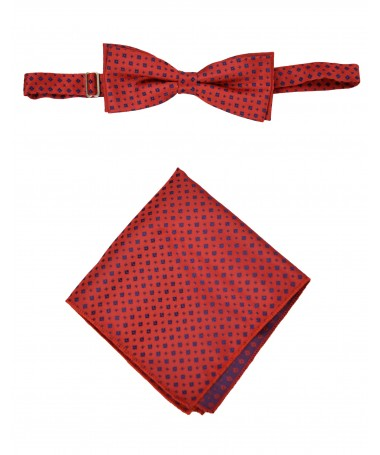 Bow Tie Victorio + pocket square Lux 124