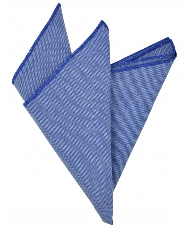 Pocket square blue with oxford fabric  14