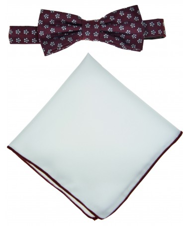 Bow Tie Victorio + pocket square Lux 166