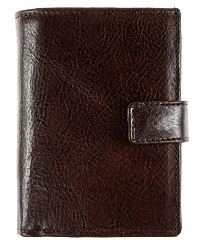 Men's wallet leather hand sewn RFID